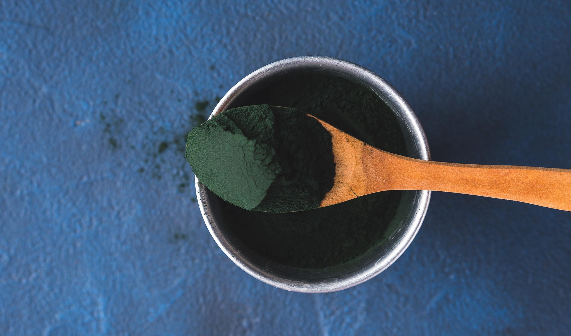 Alga spirulina biologica in polvere